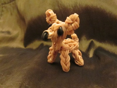 Rainbow Loom Chihuahua Dog or PuppyCharm. 3-D