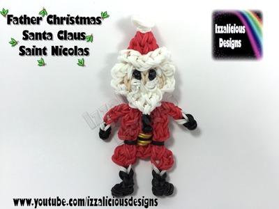 Rainbow Loom Father Christmas.Santa Claus.Saint Nicolas Action Figure.Doll.Charm.Ornament