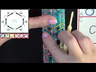 Rainbow Loom: Honeycomb Bracelet Tutorial