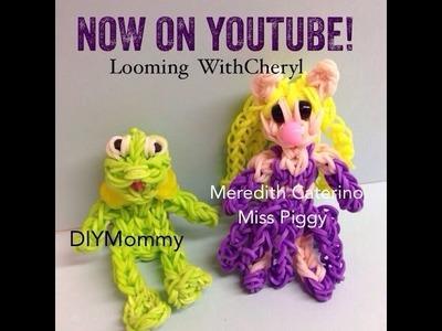 Rainbow Loom MISS PIGGY  pig - Gomitas - Looming WithCheryl