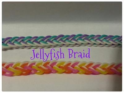 Rainbow Loom - UPDATED Jellyfish Braid - Original design