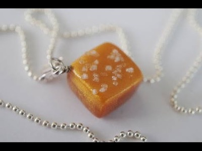 Sea Salt Caramel Charm, Miniature Food Tutorial, Polymer Clay Tutorial