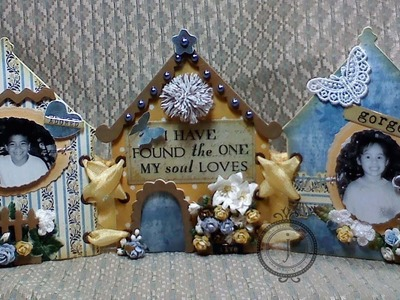 Shabby Chic Triptych Home Decor piece!