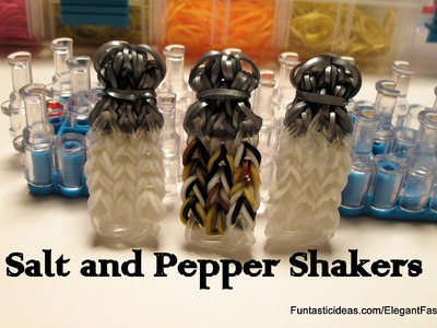 Sugar.Salt and Pepper Shaker Bottle Charm - How to Rainbow Loom Design- Food Series
