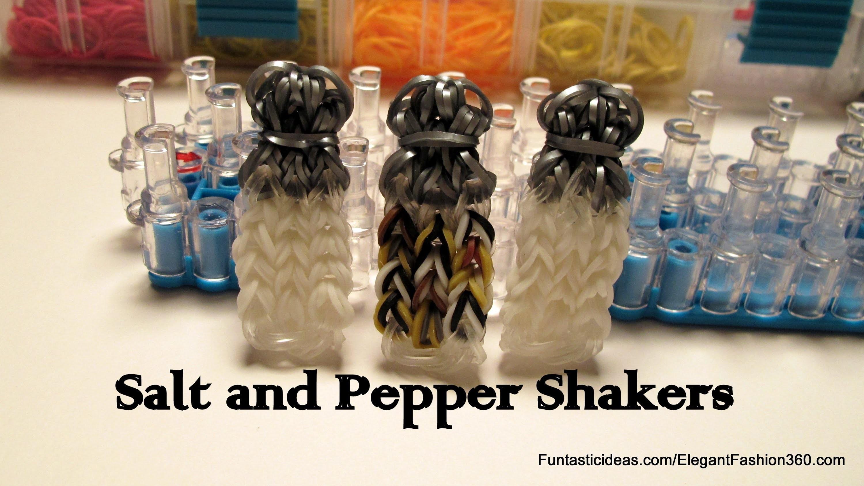 Sugar.Salt and Pepper Shaker Bottle Charm - How to Rainbow Loom Design- Food Series