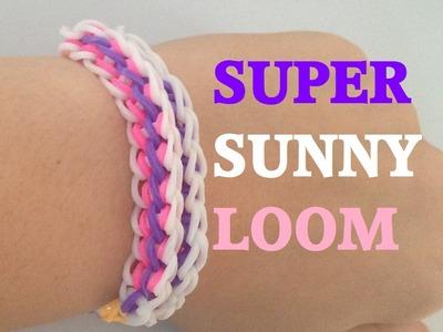 SUPER SUNNY (Original Design) Rainbow Loom bracelet Tutorial l JasmineStarler