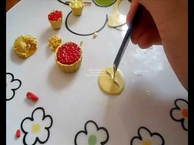 Tutorial crostata ciliegie (tutorial polymer clay cherries pie cake)