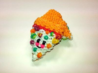 3-D Happy Pizza Tutorial by feelinspiffy (Rainbow Loom)