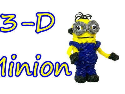 3-D Minion Tutorial by feelinspiffy (Rainbow Loom)
