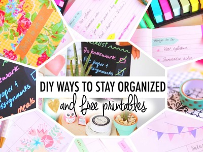 4 DIY Ways to Stay Organized & FREE Printables | #B2SwithRoxy