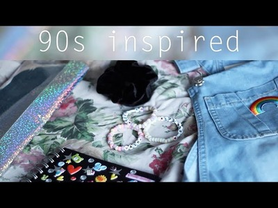 90s Inspired. Back to School DIYS (Scrunchies, Holographic Pencil Pouch, + more)