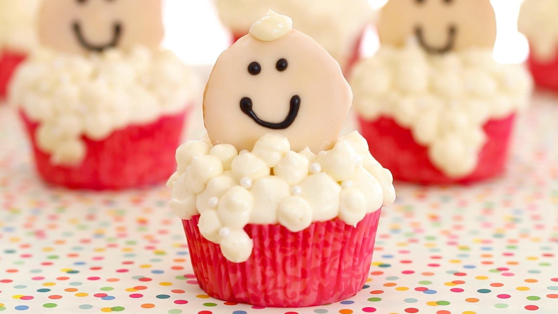 Bubbly Baby Cupcakes for Oh Joy Digital Baby Shower - Gemma's Bigger Bolder Baking Ep. 36