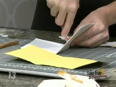 CraftSanity on TV: Making envelopes and mini books