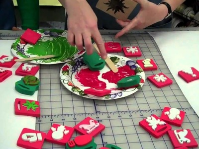 Create your own gift wrapping paper using stamps and paint by Lisa's Gift Wrappers