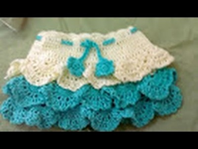Crochet Layer Baby Frock and skirt