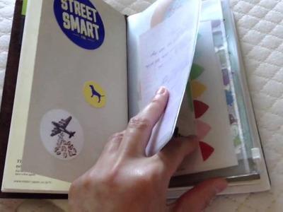 Current setup of my Midori Traveler's Notebook