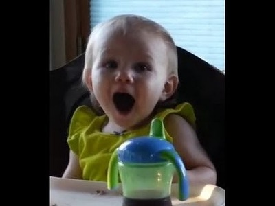 Cute Baby Making Funny Faces - Excited for Christmas Gifts