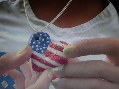 DIY American Flag Heart Necklace -HowToByJordan