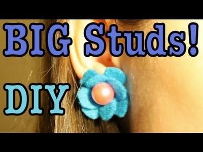 DIY: BIG Studded Flower Earrings!