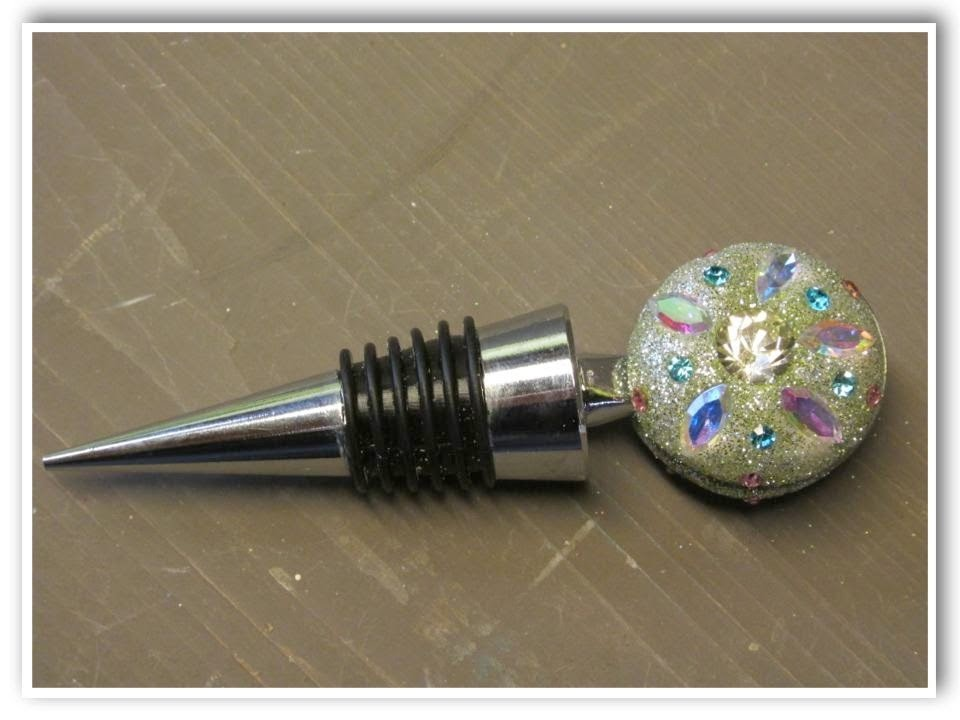 DIY Crystal Wine Bottle Stopper How To