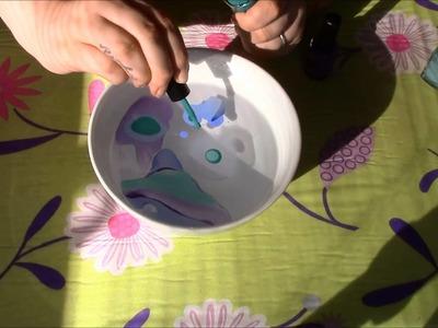 DIY: Decorare una tazza con la MARBLE ART! | Jess.
