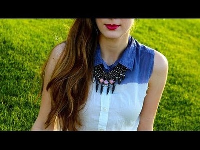 DIY Fashion | Ombre Button-Down Shirt | Fashion How To