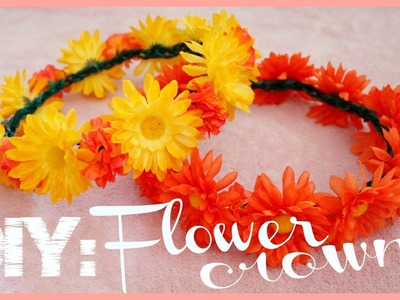 DIY Flower Crown for Summer Music Festivals! | MissTiffanyMa