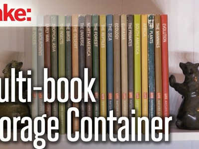 DIY Hacks & How To's: Multi-Book Storage Container