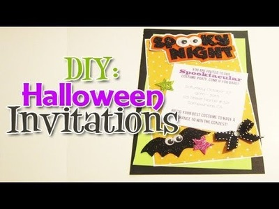 DIY: Halloween Invitation (Day 5: Halloween Week)
