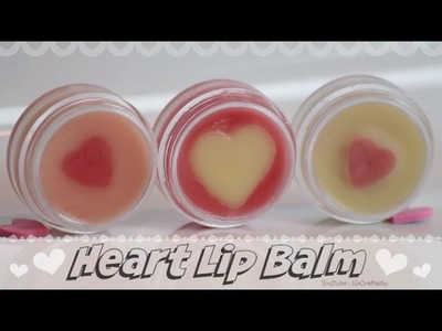 DIY Heart Lip Balm. Moisturize with natural, organic ingredients - How To