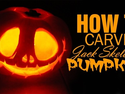 DIY ● How to Carve a Jack Skellington Pumpkin for Halloween!