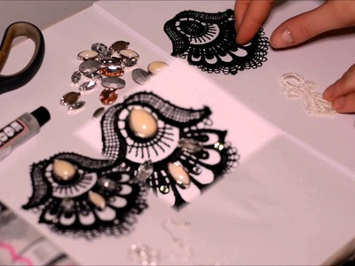 DIY Lace earrings