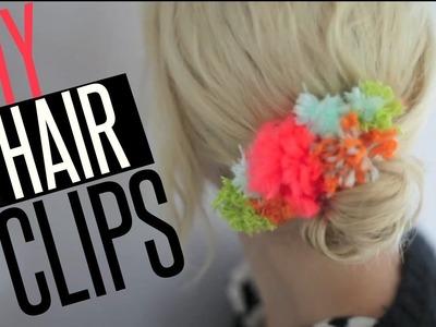DIY Pom Pom & Hair Clips