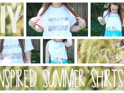 ☼ DIY TUMBLR INSPIRED SUMMER SHIRTS ☼ (NO SEW)