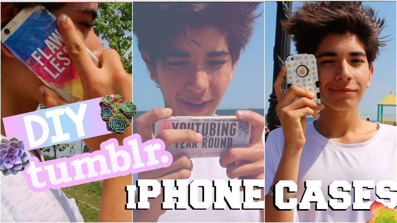 DIY Tumblr iPhone Cases | How To Repurpose Your Old Case!!!