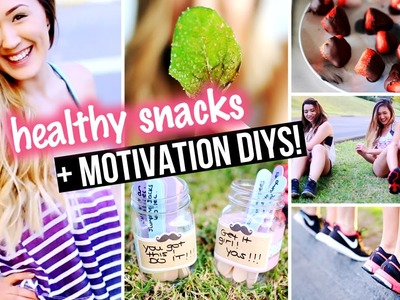 DIY Workout Motivation, Exercise Top & Healthy Snacks for Junk Food Lovers! | LaurDIY