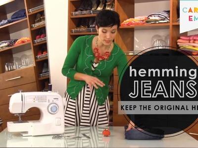 Fashion 911: How to Hem Designer Jeans to Keep Original Hem