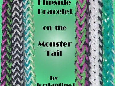 Flipside Bracelet made on the Monster Tail - Reversible -Rainbow Loom
