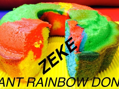 GIANT RAINBOW DONUT DOG CAKE - FOR ZEKETARD DIY Dog Food by Cooking For Dogs