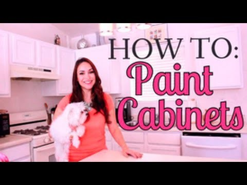 GIRL'S GUIDE TO PAINTING YOUR CABINETS!