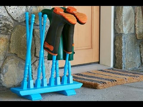 How to Build a Boot Stand - This Old House
