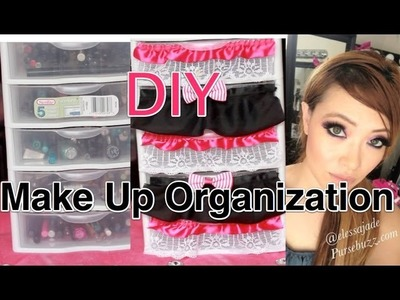 How To: DIY Make Up Drawers  (Cute Decoration)
