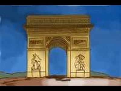How to draw Arc de Triomphe in Paris