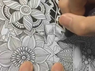 How to draw botanical doodle. zentangle #9