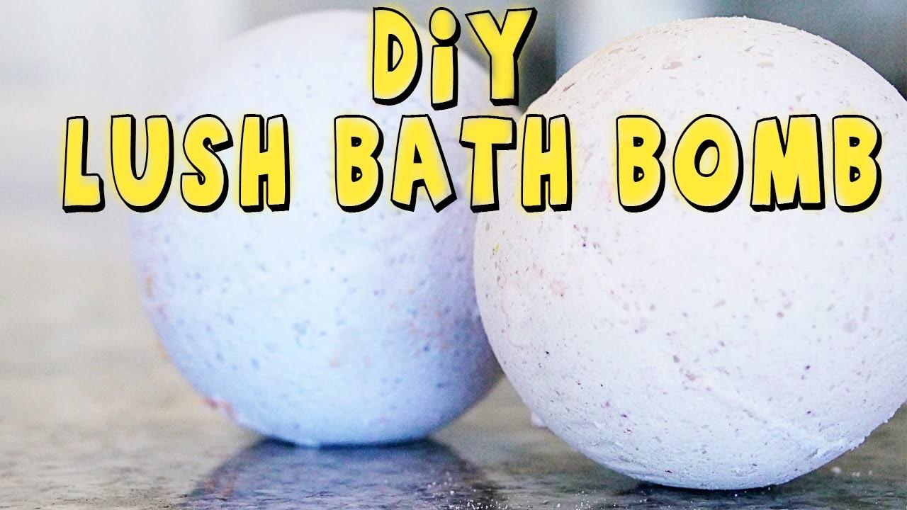 HOW TO MAKE A LUSH BATH BOMB DIY TUTORIAL