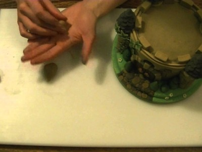 How to make a mini castle cake, part 4 final touches How To Tutorial Zoes Fancy Cakes