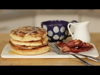 How to Make Cinnamon Roll Pancakes | Just Add Sugar
