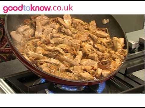 How to make pork and porcini stroganoff