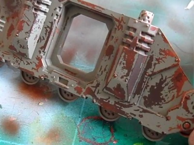 How to make realistic rust and paint chips.