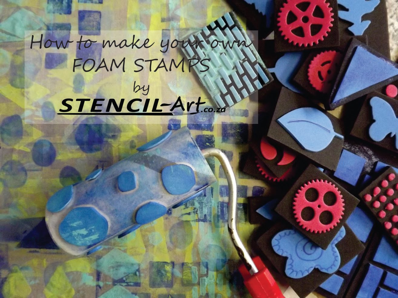 How to make your own foam stamps.